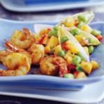 Cajun Shrimp with Mango-Edamame Salsa