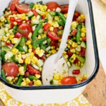 Summer Garden Salad with Basil Vinaigrette