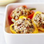 Tofu-Pesto Stuffed Peppers