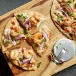 White Shrimp Pizza