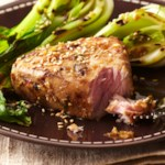 Plank-Grilled Tuna Steaks