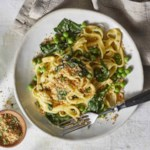 Easy Pea & Spinach Carbonara