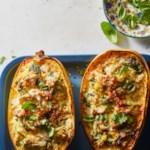 Cheesy Spinach-&-Artichoke Stuffed Spaghetti Squash