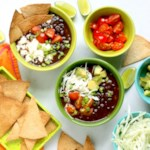 Loaded Black Bean Nacho Soup