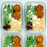 Meal-Prep Falafel Bowls with Tahini Sauce