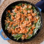 Creamy Salmon & Sugar Snap Cauliflower Gnocchi
