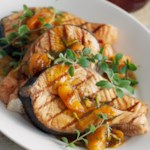 Salmon with Apricot Sauce