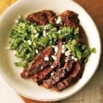 Southwest Flank Steak with Fresh Tomatillo Salsa