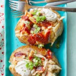 Barbecue Chicken Stuffed Baked Potatoes