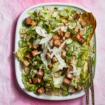 "Caesar Salad with Cashew Dressing & Tofu ""Croutons"""