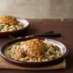 Tandoori Chicken Thighs with Lemon Couscous