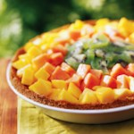 Glazed Tropical Fruit Pie
