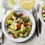 Kale & Chicken Caesar Salad with Parmesan Crisps