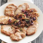Pork Medallions with Cranberry-Onion Relish