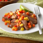 Shredded Pork with Fruit Relish