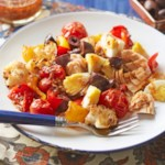 Tunisian Roasted Vegetables with Tuna & Hard-Boiled Eggs