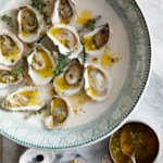 Grilled Oysters with Garlic-Herb Butter
