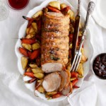 Irish Pork Roast with Roasted Root Vegetables