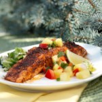 Salmon with Cilantro-Pineapple Salsa