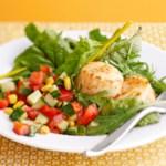 Scallop Salad with Basil Vinaigrette