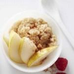 Pear-Spiced Oatmeal