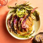Grilled Spring Onions with Romesco Sauce