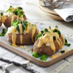 Cheesy Broccoli Baked Potatoes