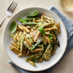 Chicken Pesto Pasta with Asparagus