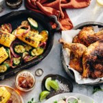 Beer-Glazed Chicken with Grilled Vegetables