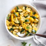 Olive Oil-Braised Summer Squash