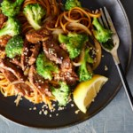 Sesame-Garlic Beef & Broccoli with Whole-Wheat Noodles