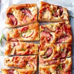 No-Knead Focaccia with Peaches & Prosciutto