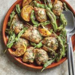 One-Pan Chicken with Basil-Anchovy Butter & Shishito Peppers