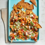 Homemade Nachos with Ratatouille & Feta