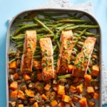 Ginger-Tahini Oven-Baked Salmon & Vegetables