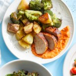 Paprika Baked Pork Tenderloin with Potatoes & Broccoli
