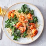 BBQ Shrimp with Garlicky Kale & Parmesan-Herb Couscous