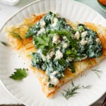 Crispy Shredded Potatoes with Spanakopita Topping