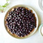 Mostly Raw Blueberry-Elderflower Pie