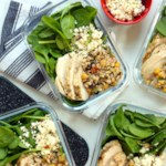 Middle Eastern Salad Bowls with Farro & Chicken