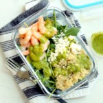 Green Goddess Quinoa Bowls with Arugula & Shrimp