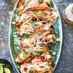 Slow-Cooker Shrimp Posole Tacos