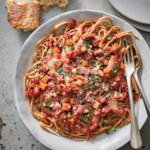 Slow-Cooker Octopus with Red Wine Sauce Over Linguine