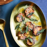 Roasted Rutabagas with Lemon-Brown Butter Sauce & Crispy Sage