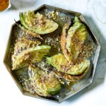 Roasted Savoy Cabbage with Orange Vinaigrette