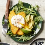 Polenta Cakes with Poached Eggs & Avocado
