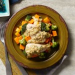 Dijon Chicken with Roasted Broccoli & Butternut Squash