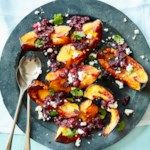 Roasted Acorn Squash with Double Cranberry Chutney