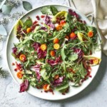 Winter Greens Salad with Pomegranate & Kumquats