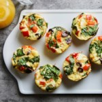 Greek Muffin-Tin Omelets with Feta & Peppers